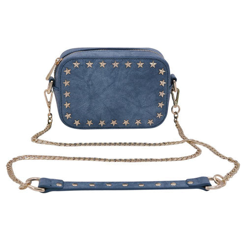 The Star Stunner- Distressed Denim - POLICY Handbags Policy Bag