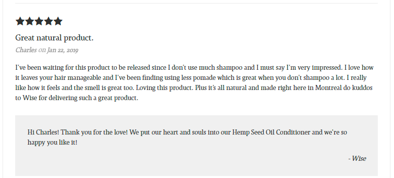 Hemp Seed Oil Conditioner Reviews