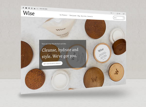 Future look of the new website of Wise Men's Care