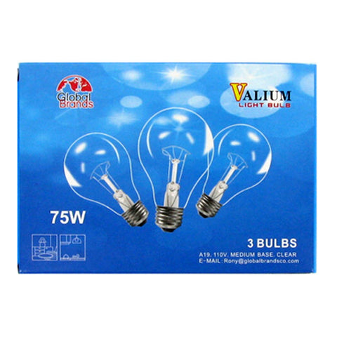 GB07622 3pcs Clear Light Bulb 75W 40CT