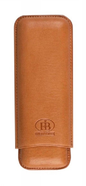 Leather Case for 2 Cigars