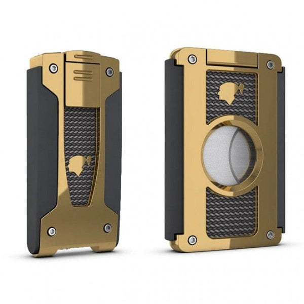 Cohiba Torch Lighter, Carbon Fiber and Golden Finish - Perique...the Essence of...