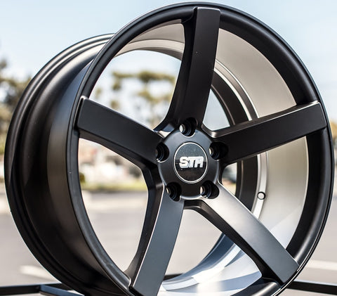 "22"" STR Wheels 607 Titanium Rims #STR021-5"