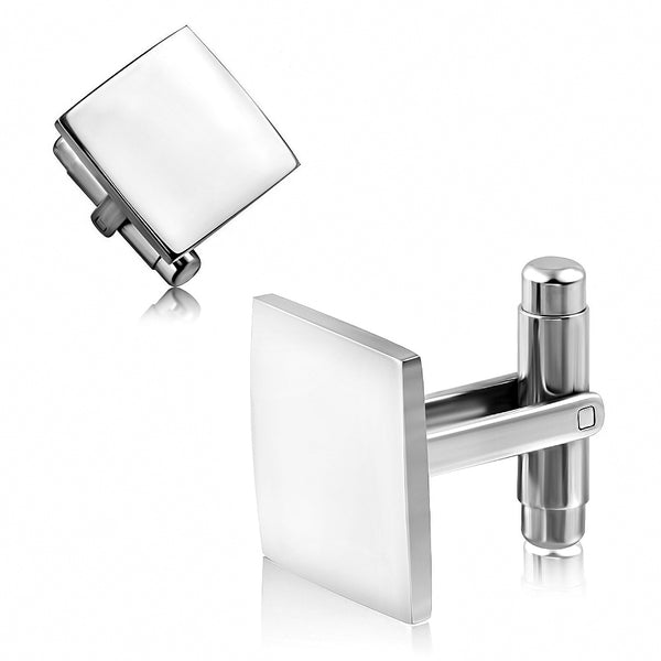 Stainless Steel Engravable Square Cufflinks (Pair)