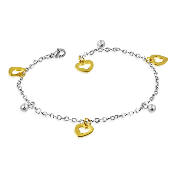 Gold and silver stainless steel bracelet