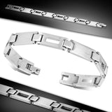 Stainless Steel Engravable & Cut-out Panther Link Bracelet