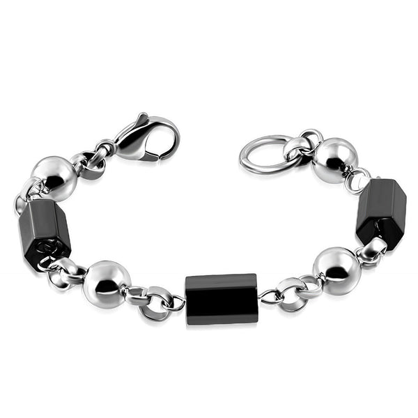 Black stainless steel bracelet in South Africa