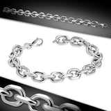 Stainless Steel Lobster Claw Clasp Closure Marine Anchor Link Chain Bracelet