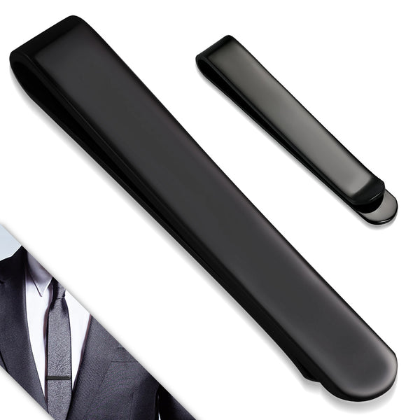Black Stainless Steel Tie Clip