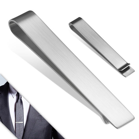 Stainless Steel Matte Finished Engravable Tie Clip