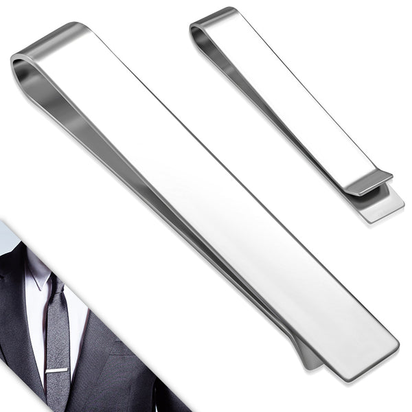 Stainless Steel Polish Finished Engravable Tie Clip