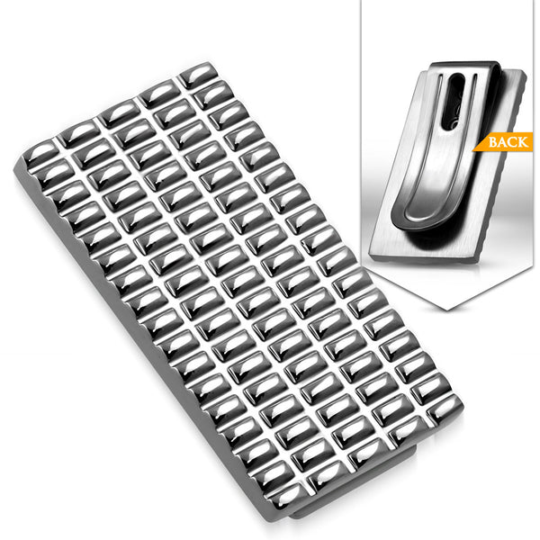 Stainless Steel Grid Money Clip