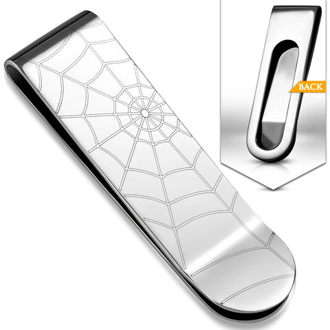 Stainless Steel Spider Web Money Clip