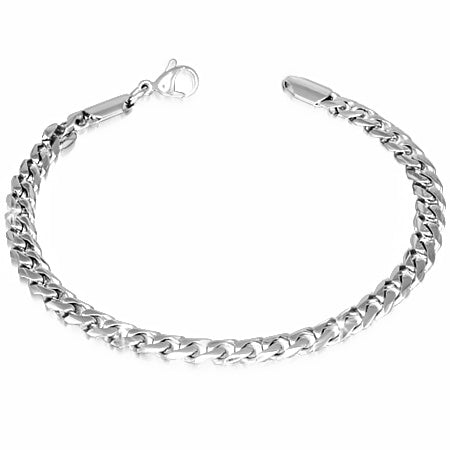Stainless Steel Curb Cuban Link Bracelet