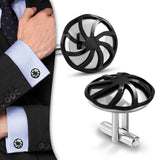 Stainless Steel 2-tone Windmill Cufflinks (Pair)