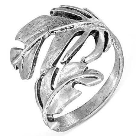 Spiral Leaf Fancy Ring