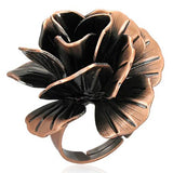 Rose/Pink Gold Colour Plated Flower Cocktail Ring
