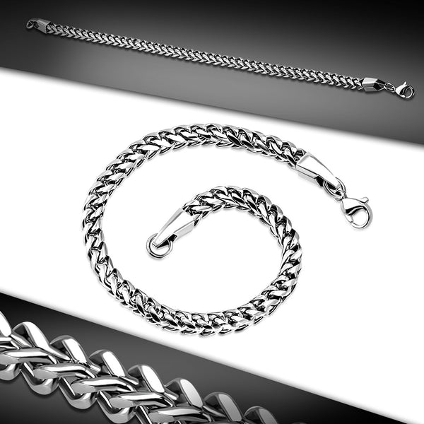 Stainless Steel Wheat Link Bracelet