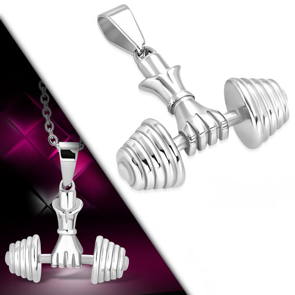 Stainless Steel Crossfit Hand Lifting Weight Dumbbell Pendant