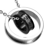 Stainless Steel 2-tone The Lords Prayer In Spanish Pendant
