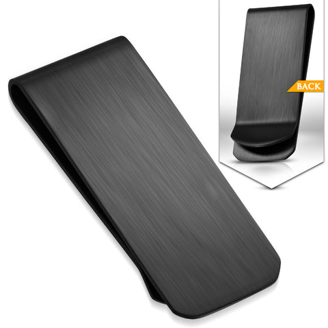 Black Stainless Steel Matte Finished Money Clip