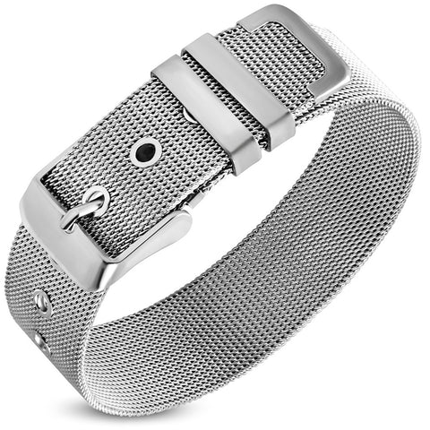 Stainless Steel Mesh Belt Buckle Bracelet