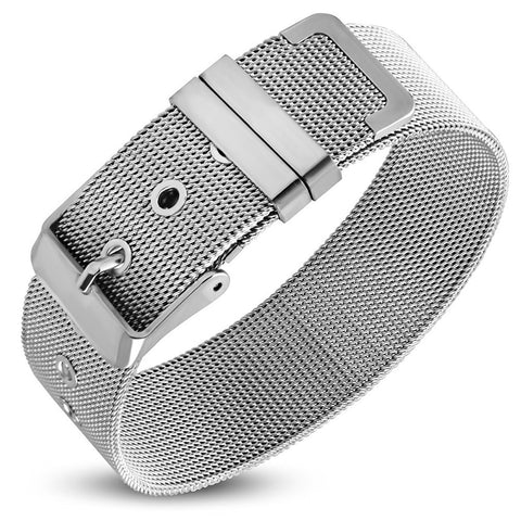 Mesh belt buckle bracelet for ladies