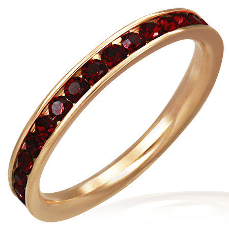 Channel-Set Eternity Comfort Fit Band Ring