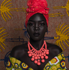 "Sudanese beauty & model, Nyakim Gatwech, stands out as the ""Queen of Dark"". She wouldn't have it any other way."