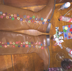 DIY your shoes and you'll be feeling groovy in no time