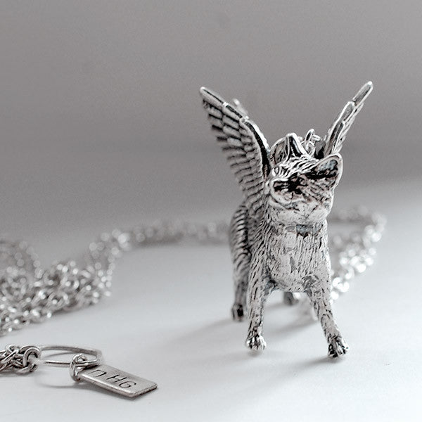 "Winged ""Action Cat"" Pendant"