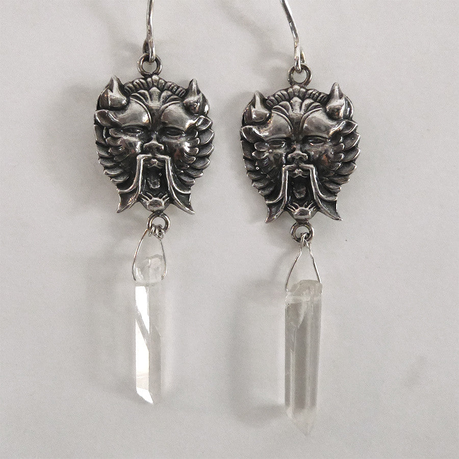 Screamin Demon Crystal Earrings