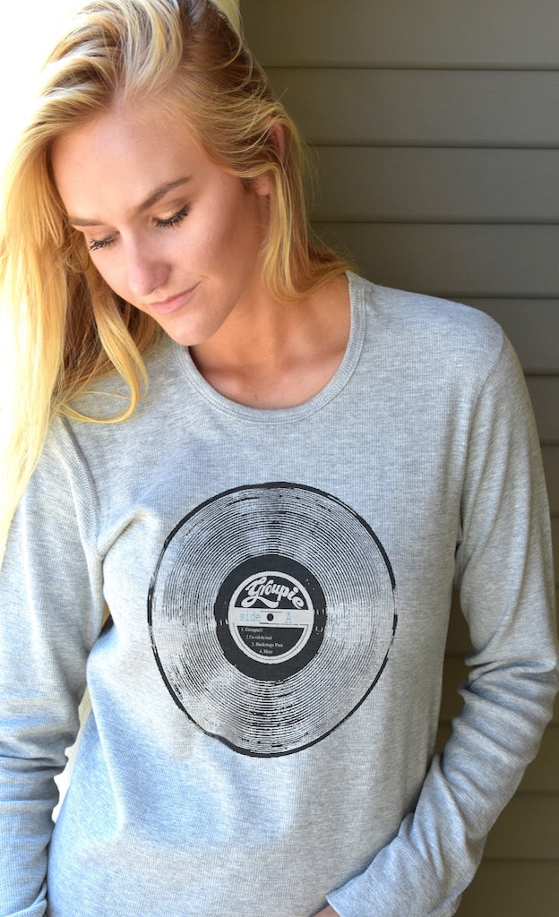 If music rocks YOUR world, grab one of our comfortable women's thermals with album graphic - you're gonna love it!