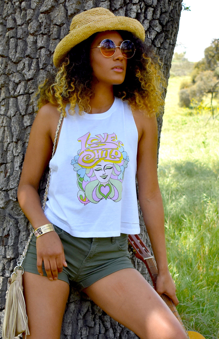 Love Child Cropped Tank  NEW!!!