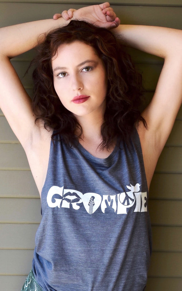 Groupie Woodstock womens top hangs just right and looks awesome.  Comfy, soft and perfect with jeans, shorts or relaxing in your undies