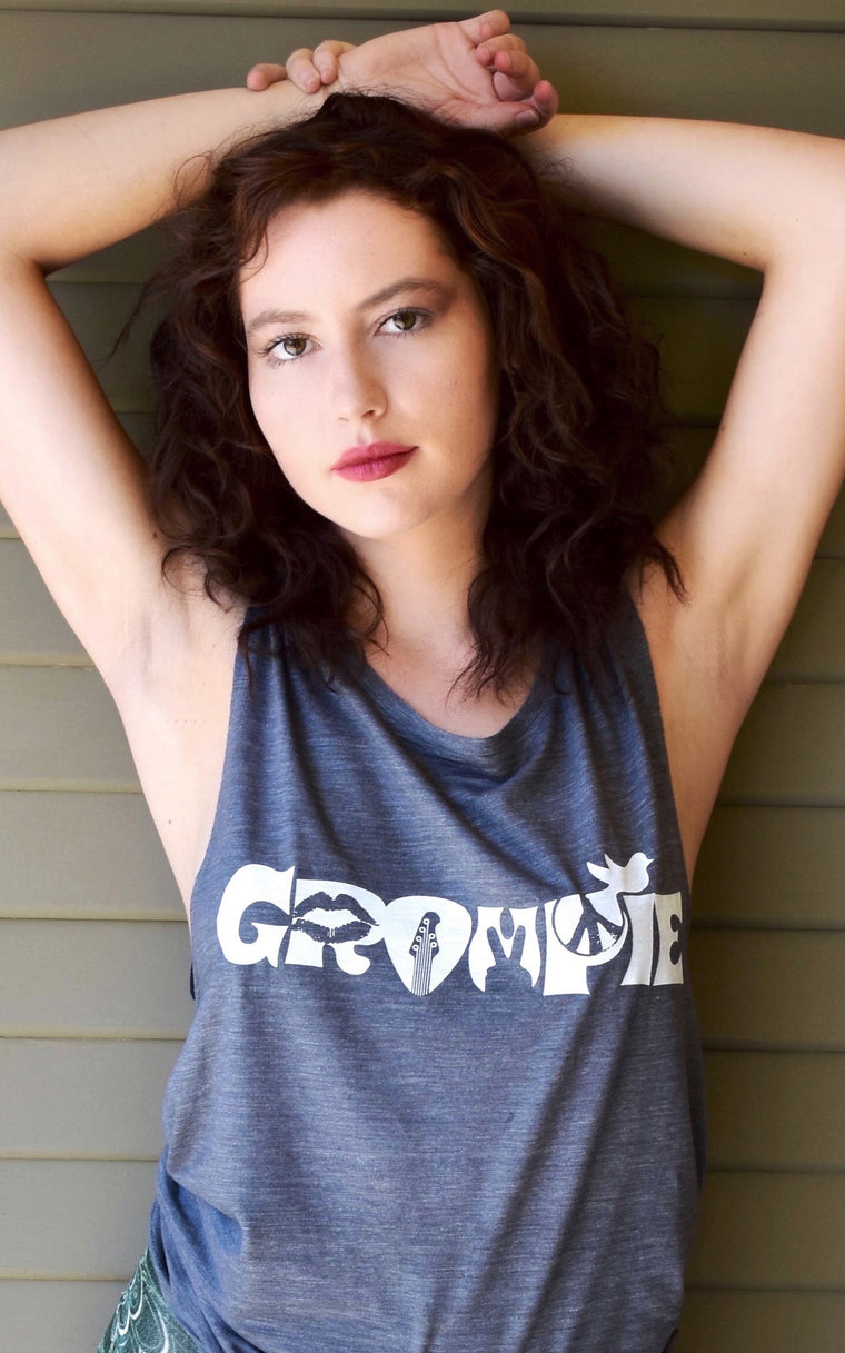 Groupie Woodstock Tank with White Graphic
