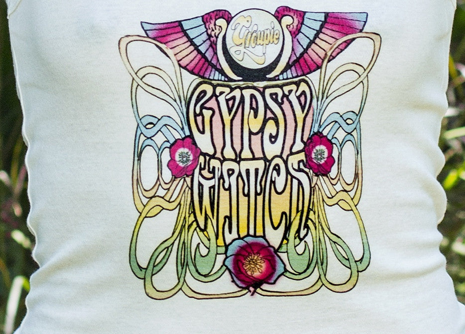 Let your spirit fly in this Gypsy Witch tank with vibrant graphic and killer fit for comfort.