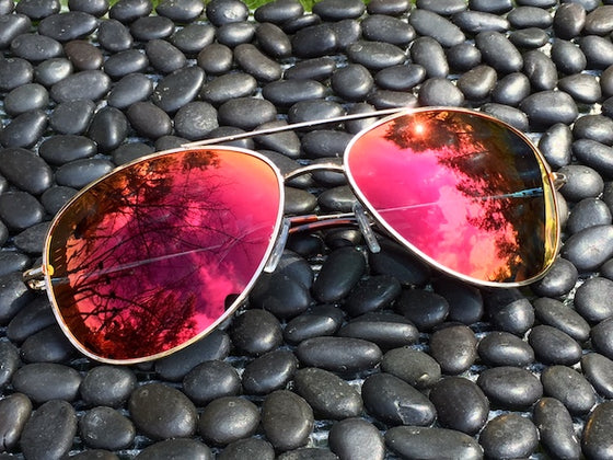 Rose Dream Mirrored Aviator sunglasses are the perfect fit for those who see life through rose colored glasses.