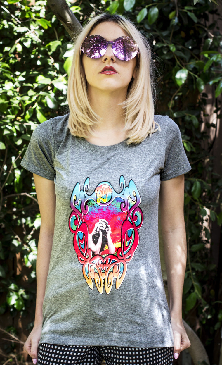 Women's Tees are perfect for free spirited Groupies and Pamela Des Barres fans.