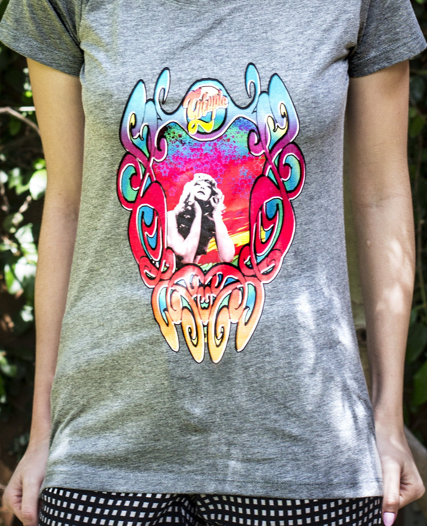 You can feel the colors enthral you when you're wearing this groovy tee with unique graphic.