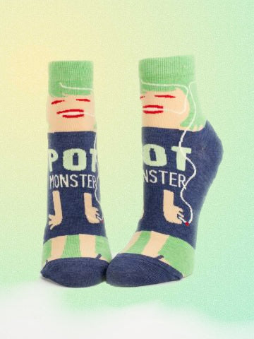 novelty womens socks are full of humorous sayings and color