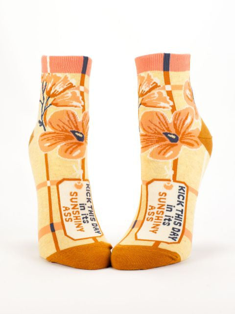 Women's crew socks rock and these Groupie socks let the world know you're ready to kick some butt! They'll make your feet smile! Beautiful golden and rust colors with soft luxurious combed cotton are heaven for your feet.
