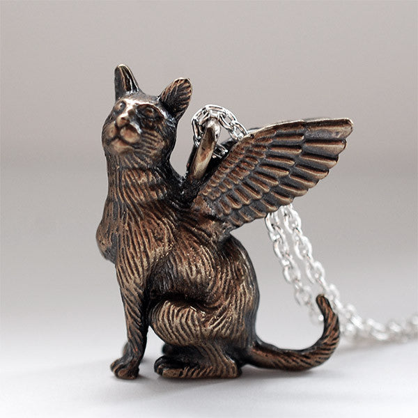 Winged Cat Pendant 1