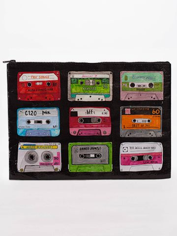 Mixed Tape Jumbo Pouch