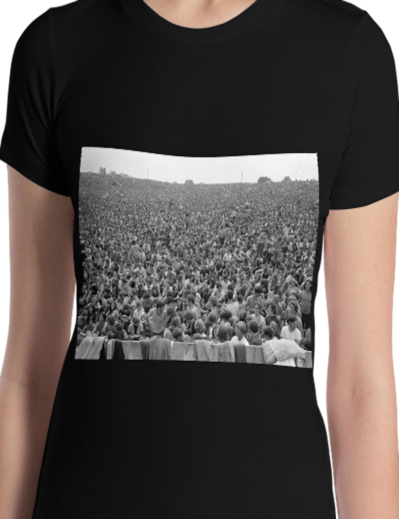 Shop unique Vintage Inspired tees like this world renowned Baron Wolman Woodstock image, 300,000 Strong... women's vintage fashion and great buys