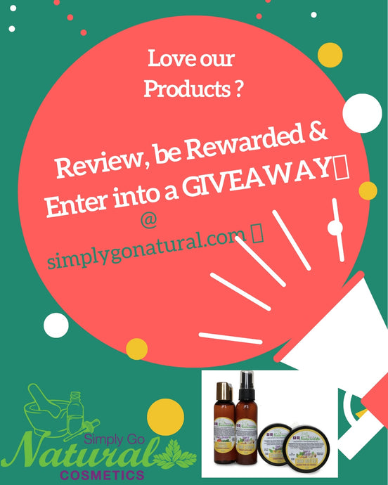 Product review GIVEAWAY time💃💃.. Write a review, be rewarded twice