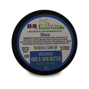 Hair and Skin Butter -Shea Butter and Castor Oil