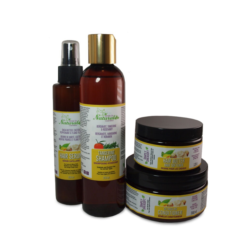 Natural Afro Hair Starter Kit Simply Go Natural Cosmetics