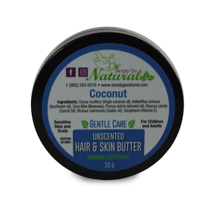 coconut hair butter
