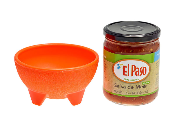 Salsa de Mesa with Orange Bowl
